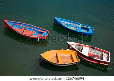 Boats in Santurtzi, Bizkaia, Basque Country, Spain