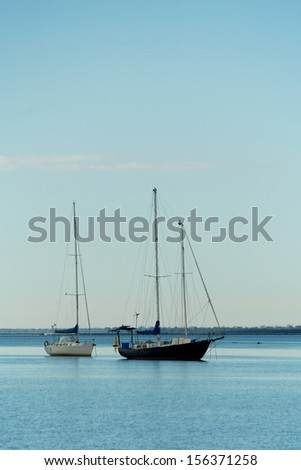 Boats in the habour - stock photo