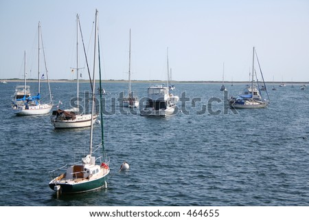 Boats Moored on Cape Cod
