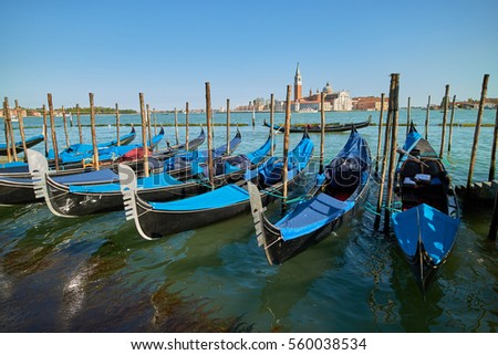 boats on the dock in Venice
