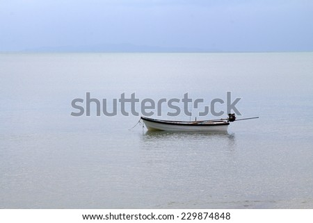 boats on the sea, landscape