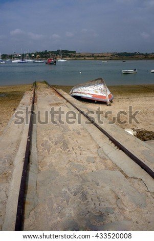 boats on water - stock photo