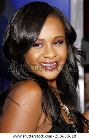 """Bobbi Kristina Brown at the Los Angeles premiere of """"Sparkle"""" held at the Grauman's Chinese Theatre in Los Angeles, United States on August 16, 2012.  - stock photo"""