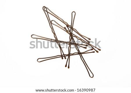 bobby pin - stock photo