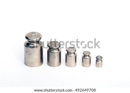 bobs (weights) for scales on a white background