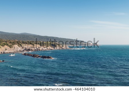 Boccale castle the sea near Livorno in Tuscany region in Italy