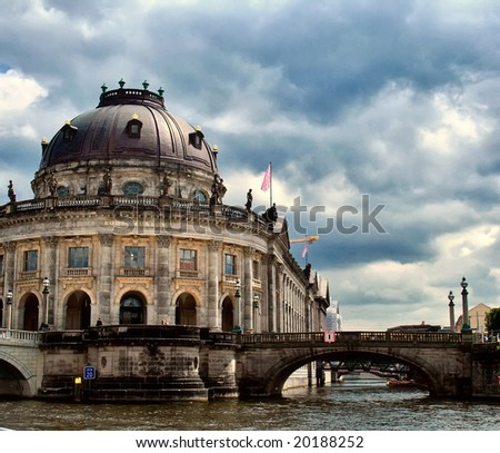 Bode-museum of Berlin, Germany, view from river - stock photo