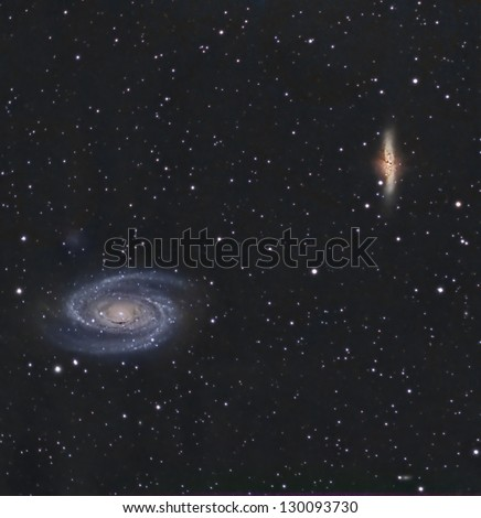 Bode's Nebulae or M81 and M82