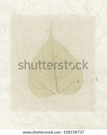 Bodhi Leaf collage with natural organic papers.