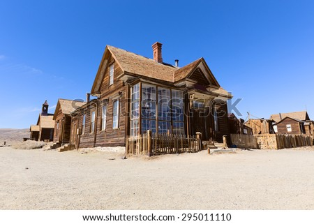 BODIE, CA, USA   MARCH, 2015: Building in Bodie Ghost Town Historic State Park, California - stock photo