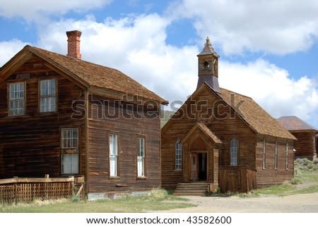 Bodie, California - ghost town --church - stock photo