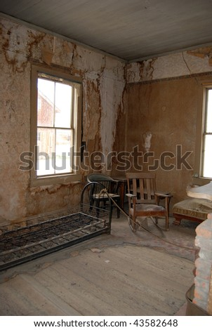 Bodie, California - ghost town - interior - stock photo