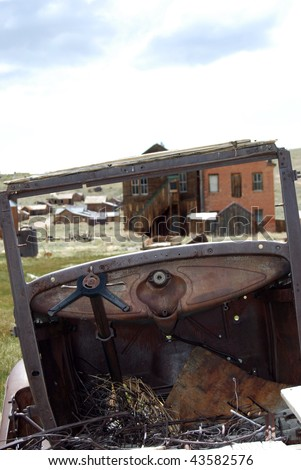 Bodie, California - ghost town - old car - stock photo
