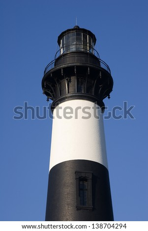 Bodie Island Lighthouse Tower in North Carolina Outer Banks