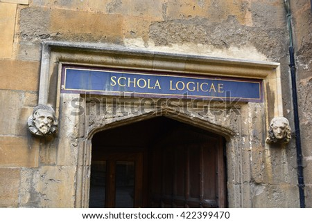 Bodleian Library school of Logic entrance - stock photo