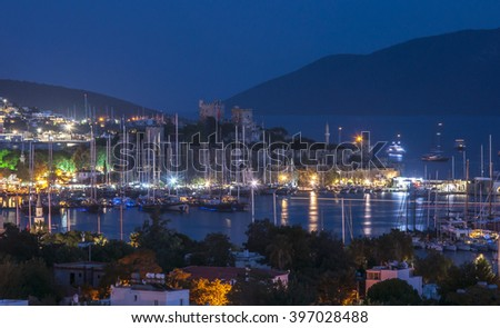 Bodrum Castle (Castle of St. Peter). Mugla, Turkey  - stock photo
