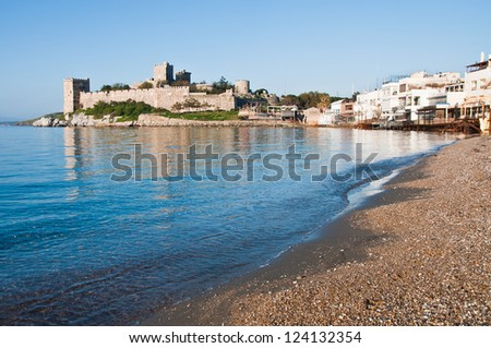 Bodrum Castle in winter time - stock photo