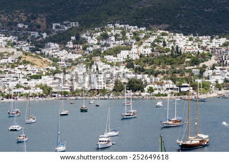 Bodrum Scene - stock photo