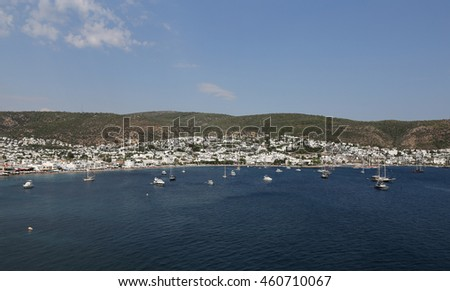 Bodrum Town in Aegean Coast of Mugla City, Turkey