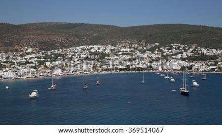 Bodrum Town in Aegean Coast of Turkey