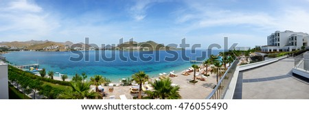 BODRUM, TURKEY - MAY 21: The tourists enjoing their vacation in luxury hotel on May 21, 2013 in Bodrum, Turkey. More then 36 mln tourists have visited Turkey in year 2013
