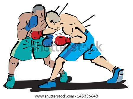 Body blow of Boxing