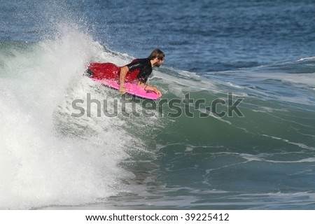 body board in action