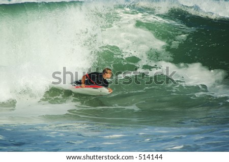 body boarding surfer
