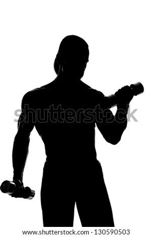 Body Builder's Silhouette.