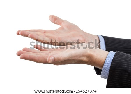 Body language showing hands in gesture of infirmity