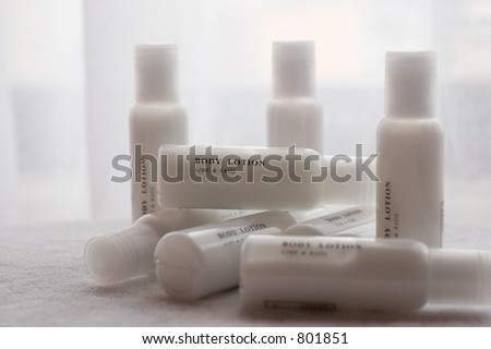body lotion lime and basil - stock photo