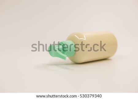 Body Lotion on a white background