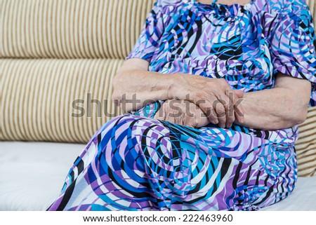 body of a senior woman - stock photo