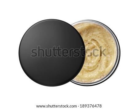 Body scrub isolated on white  - stock photo