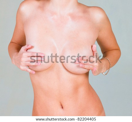Body Sculpture Breast Erotica - stock photo