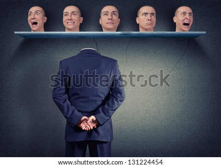 body selects the right mood - stock photo