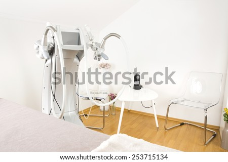 Body shaping clinic with advanced equipment - stock photo