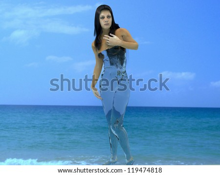Body water The body of an adult person consists of 70 % water. - stock photo