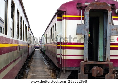 Bogie  of old railway wagon,The old train system. - stock photo