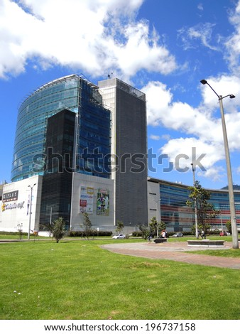 BOGOTA, COLOMBIA - MAY 24: Modern shopping center, on May 24, 2014 in Bogota, Colombia.
