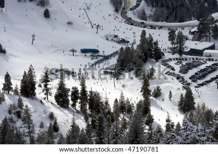 Bogus Basin, Simplot Lodge - stock photo