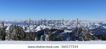 Bogus Basin Ski Resort, Boise, Idaho - stock photo