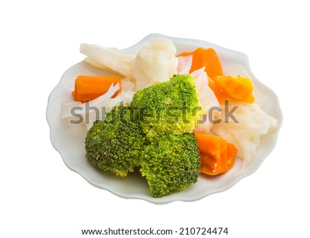 Boiled cabbage and broccoli salad