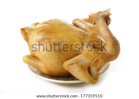 boiled chicken - stock photo
