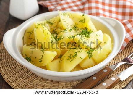 Boiled potatoes
