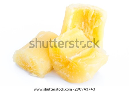 Boiled potatoes isolated on white background