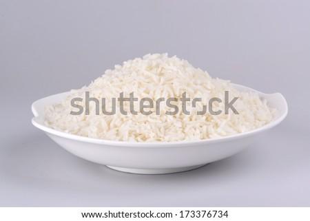 Boiled white rice - stock photo