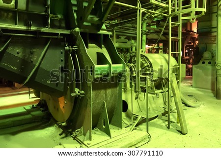Boiler in a coal heating plant