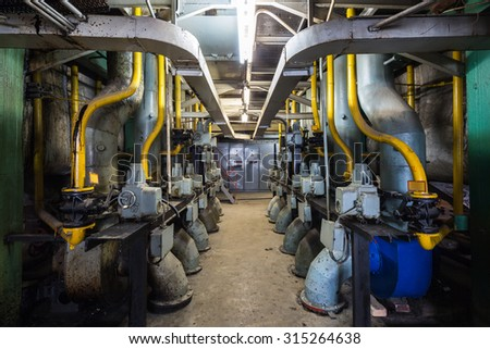 boiler room of the old power station
