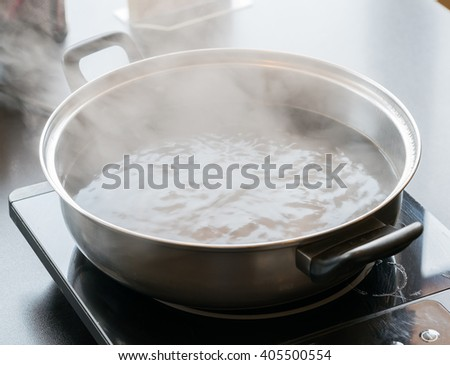 Boiling Pot - stock photo